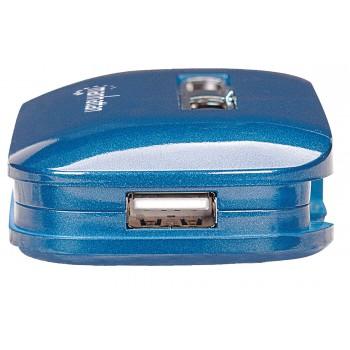 HUB USB 2.0 MANHATTAN 7 PUERTOS ALIMENTACION DUAL AZUL [ 161039 ][ AC-2635 ]