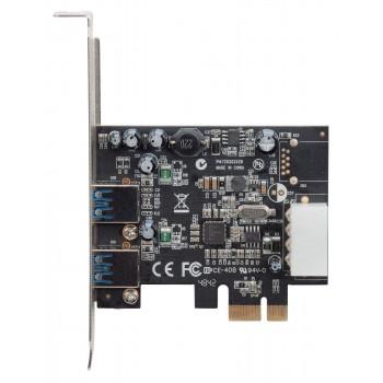 TARJETA PCI EXPRESS MANHATTAN USB 3.0 2 PUERTOS BRACKET LARGO CORTO [ 151375 ][ AC-4931 ]