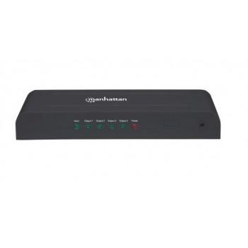 VIDEO SPLITTER HDMI MANHATTAN 4K 3D 4 PTOS DIVISOR DUPLICADOR DE SENAL [ 207515 ][ AC-5826 ]