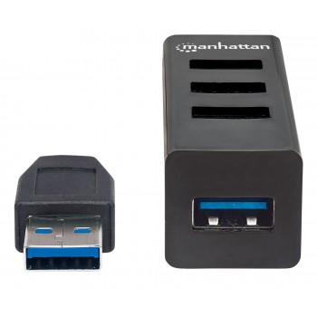 HUB USB V2.0  3 PTOS Y V3.0 1 PTO SIN FUENTE MANHATTAN [ 163828 ][ AC-6451 ]