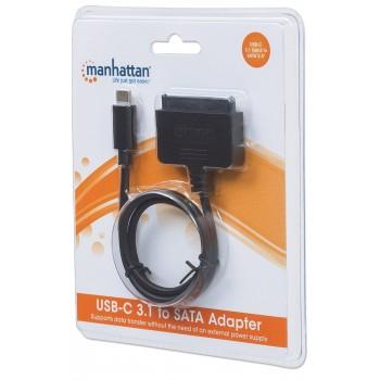 CONVERTIDOR USB-C 3.1 A HDD SATA 2.5 PULGADA MANHATTAN [ 152495 ][ AC-6475 ]