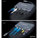 DOCKING 7-1 MANHATTAN USB-C A HDMI VGA RJ45 MINI DP 3 USB 3.5MM LECTOR SD [ 152808 ][ AC-6716 ]